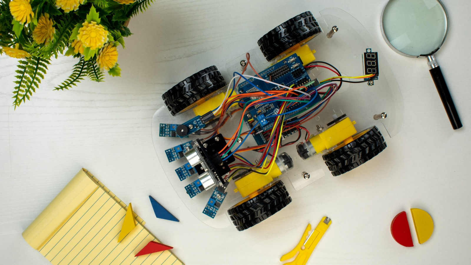 robot style car with joystick